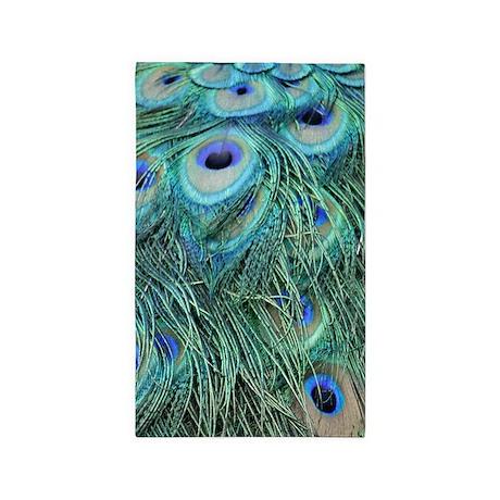 Peacock Feathers Area Rug By Joysdesignershop