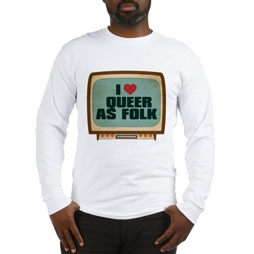 Retro I Heart Queer as Folk Long Sleeve T-Shirt