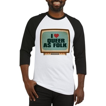 Retro I Heart Queer as Folk Baseball Jersey