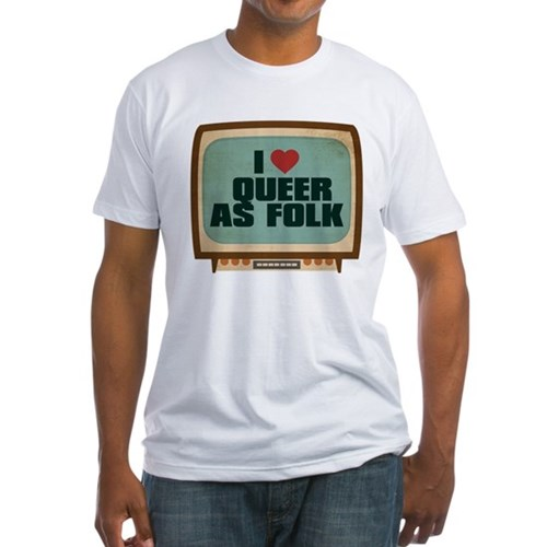 Retro I Heart Queer as Folk Fitted T-Shirt