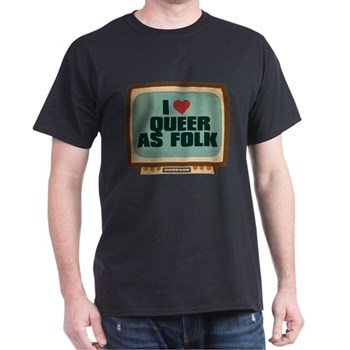 Retro I Heart Queer as Folk Dark T-Shirt