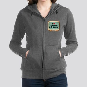 Retro I Heart Queer as Folk Women's Zip Hoodie