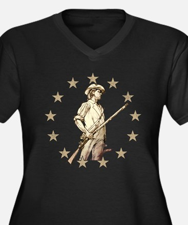 Concord Minuteman Drawing Plus Size T-Shirt