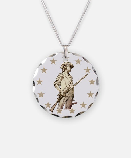 Concord Minuteman Drawing Necklace