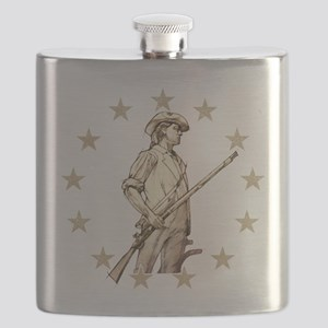 Concord Minuteman Drawing Flask