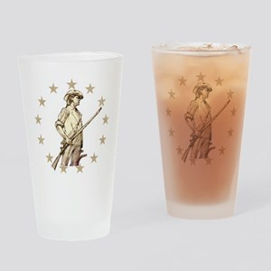 Concord Minuteman Drawing Drinking Glass