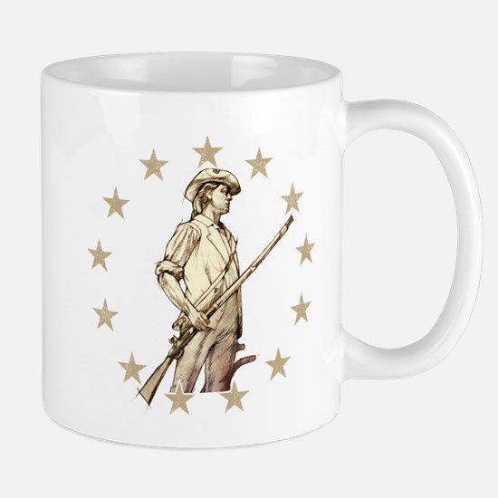 Concord Minuteman Drawing Mugs