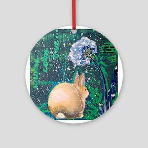 Wishes Come True: Rabbit Round Ornament