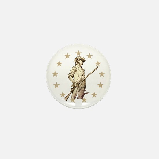 Concord Minuteman Drawing Mini Button