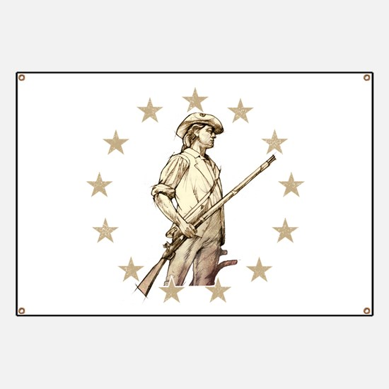 Concord Minuteman Drawing Banner