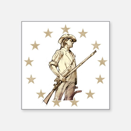 Concord Minuteman Drawing Sticker