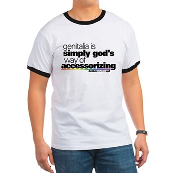 Genitalia Quote Ringer T-Shirt