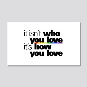 It's How You Love Car Magnet 20 x 12