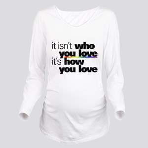 It's How You Love Long Sleeve Maternity T-Shirt