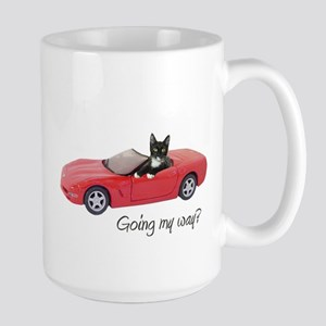 Cat Red Car My Way Mugs