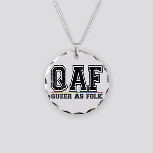 QAF Queer as Folk Necklace Circle Charm