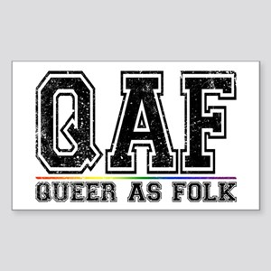 QAF Queer as Folk Rectangle Sticker