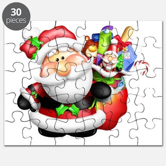 santa and his sack of Puzzle