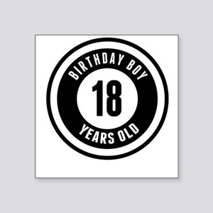 Birthday Boy 18 Years Old Sticker