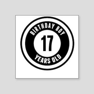 Birthday Boy 17 Years Old Sticker
