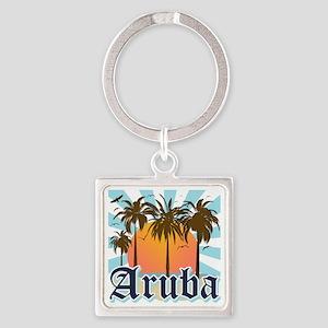 Aruba Caribbean Island Square Keychain