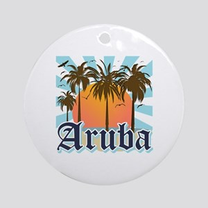 Aruba Caribbean Island Round Ornament