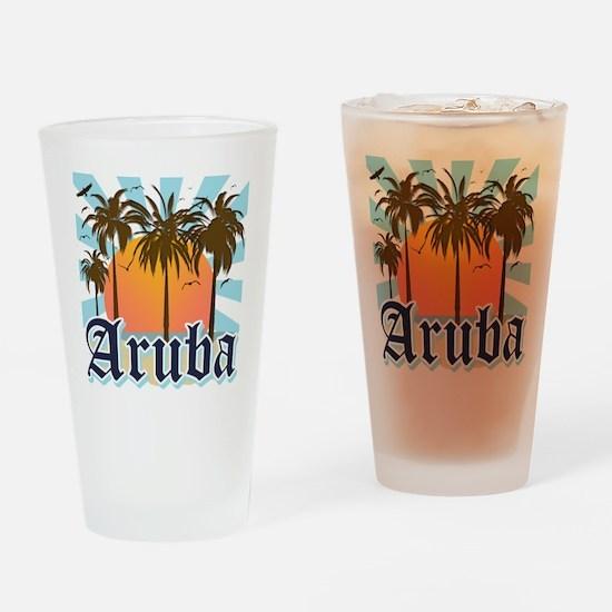 Aruba Caribbean Island Drinking Glass