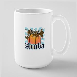 Aruba Caribbean Island Large Mug