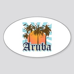 Aruba Caribbean Island Sticker (Oval)