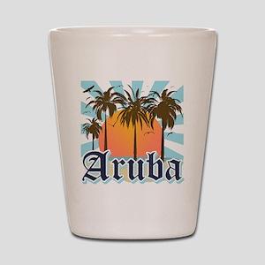 Aruba Caribbean Island Shot Glass