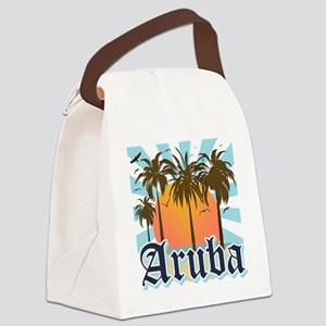 Aruba Caribbean Island Canvas Lunch Bag