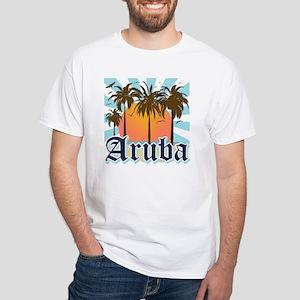 Aruba Caribbean Island White T-Shirt