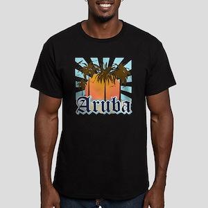 Aruba Caribbean Island Men's Fitted T-Shirt (dark)