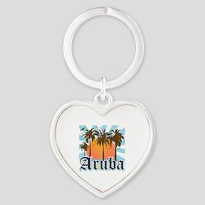 Aruba Caribbean Island Heart Keychain