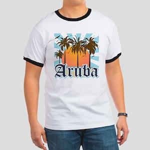 Aruba Caribbean Island Ringer T