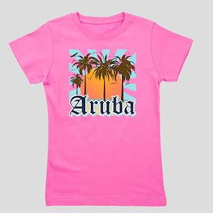 Aruba Caribbean Island Girl's Tee