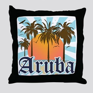 Aruba Caribbean Island Throw Pillow