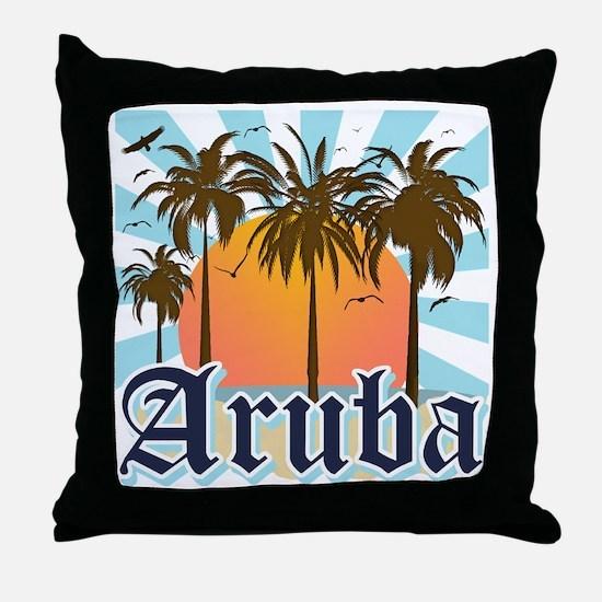 Aruba Caribbean Island Throw Pillow