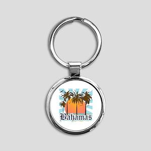 Bahamas Round Keychain