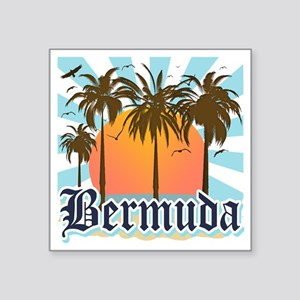 "Bermuda Square Sticker 3"" x 3"""