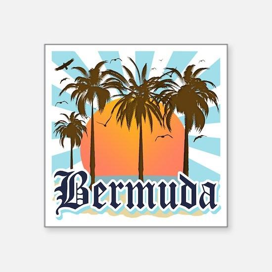 """Bermuda Square Sticker 3"""" x 3"""""""