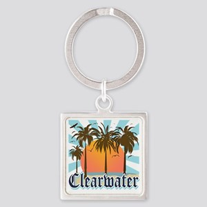 Clearwater Beach Florida Square Keychain