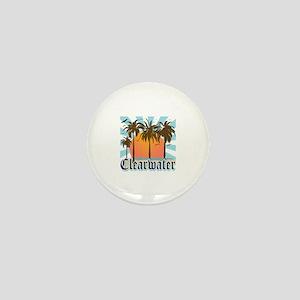 Clearwater Beach Florida Mini Button