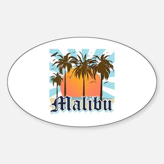 Malibu California Sticker (Oval)