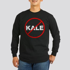 No Kale White Long Sleeve T-Shirt