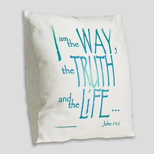 I am the Way Burlap Throw Pillow