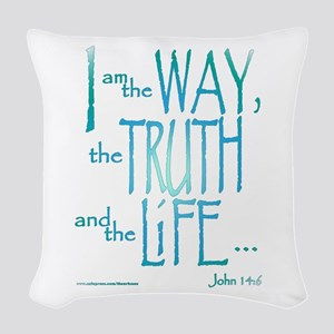 I am the Way Woven Throw Pillow