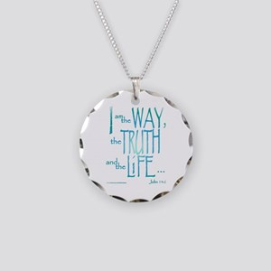 I am the Way Necklace Circle Charm