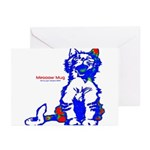 Funny Hello Meoow Greeting Cards (pk Of 10)