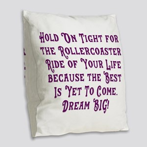 Rollercoaster To The Best Burlap Throw Pillow